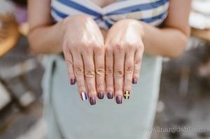 wedding flag nails